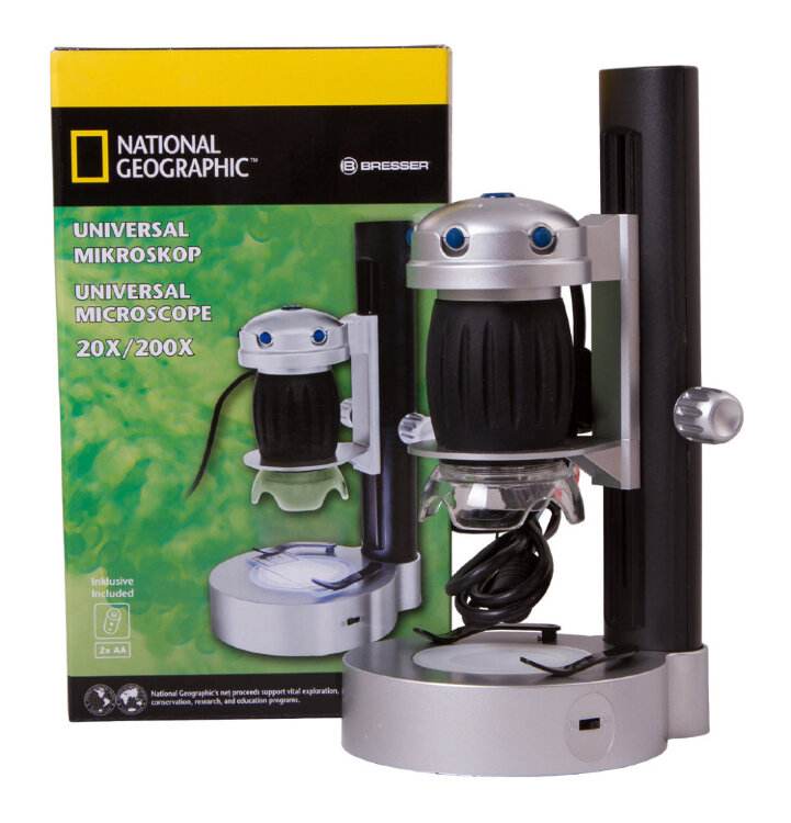 Микроскоп цифровой Bresser National Geographic USB, со штативом